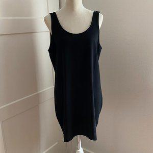 Leith Black Tank Dress Low Back Scoop Neck Med